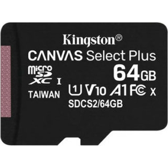 Kingston 64GB MicroSDXC Canvas Select Plus Hafıza Kartı SDCS2/64GB
