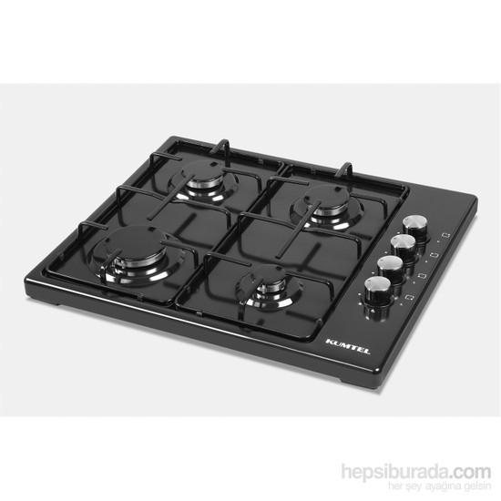 Kumtel KO-420F 4 Gözü Gazlı Siyah Setüstü Ocak-LPG