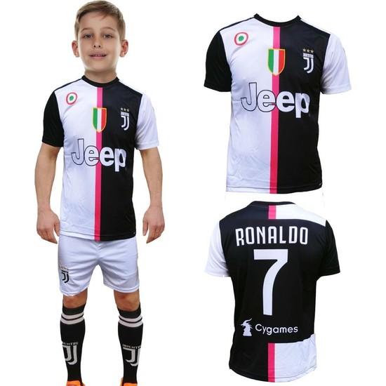 Liggo Juventus Ronaldo Çocuk Forma Takımı Forma Şort Çorap