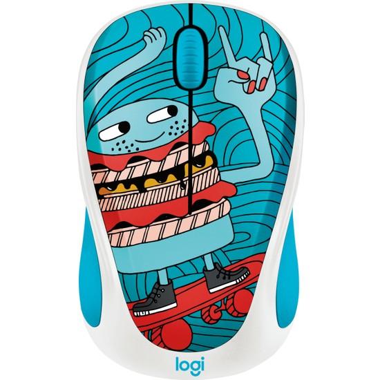 Logitech M238 Kablosuz Mouse The Doodle Collection Skateburger 910-005052