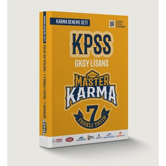 Master Karma Yayınları 2020 Kpss Gkgy Lisans 7'li Deneme Seti