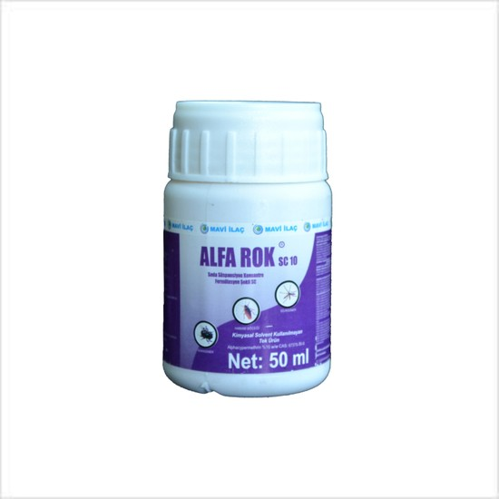 Mavi İlaç Alfa Rok Sc 10 50 ml Karasinek Sivrisinek Hamam Böceği