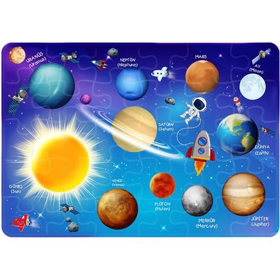 Md Puzzle Uzay Temalı Çocuk Puzzle 30 Parça Puzzle Kutulu