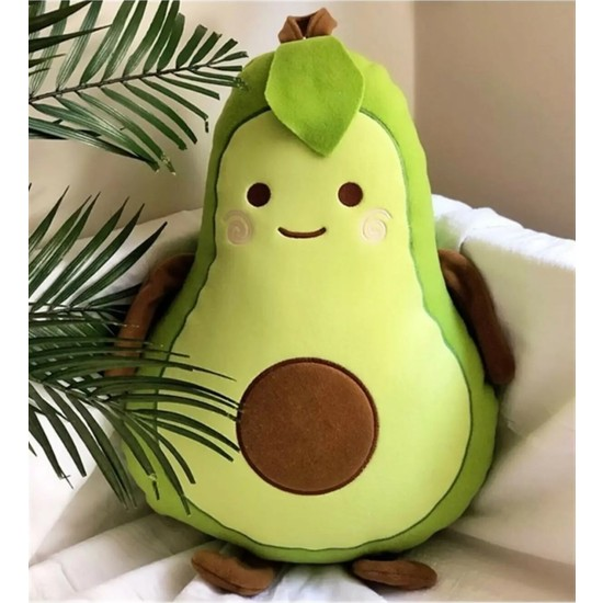 Mobgift Avokado Peluş Yastık Büyük Boy 50 cm
