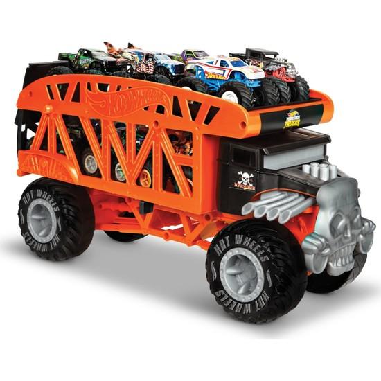Monster Trucks Taşıyıcı Kamyon - 12 adet 1:64 Ölçekli Araç Kapasiteli GKD37