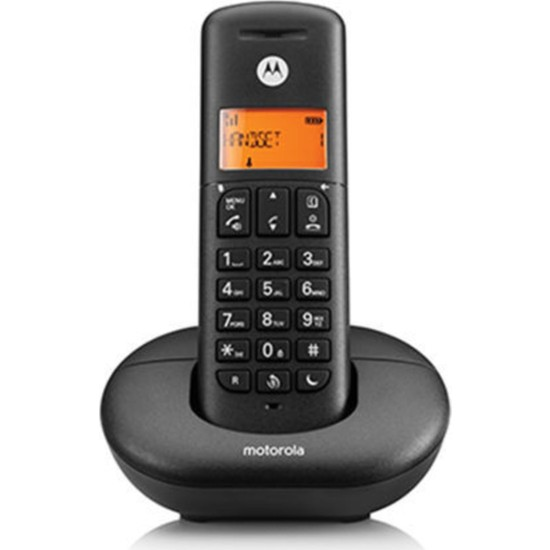 Motorola Kablosuz Dect Telsiz Telefon Siyah E201