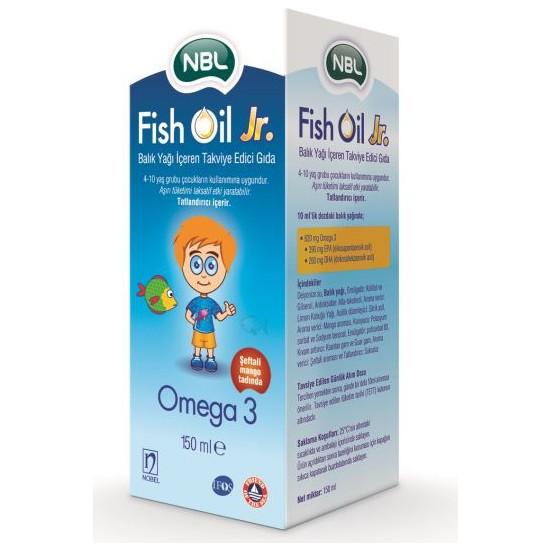 Nbl Fish Oil Jr. Omega 3 Balık Yağı Şeftali ve Mangolu