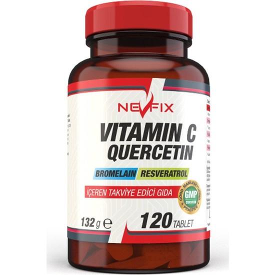 Nevfix Vitamin C Quercetin Bromelain 120 Tablet