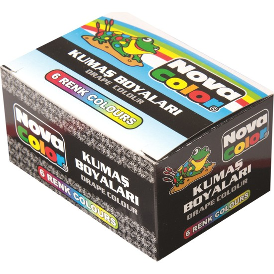 Nova Color Nc-188 Kumaş Boyası 6 Renkli Set