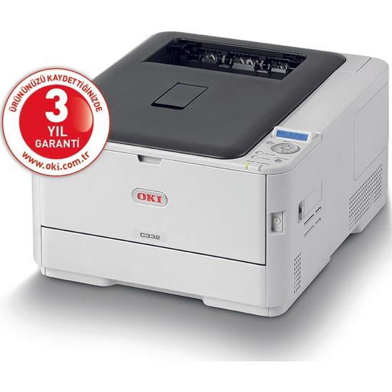 OKI C332DN Dublex + Network A4 Renkli Laser Yazıcı
