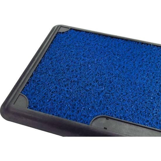 Olunca Dezenfektan Havuzlu Kıvırcık Kapı Önü Hijyen Paspas 45 x 70 cm Mavi Blue
