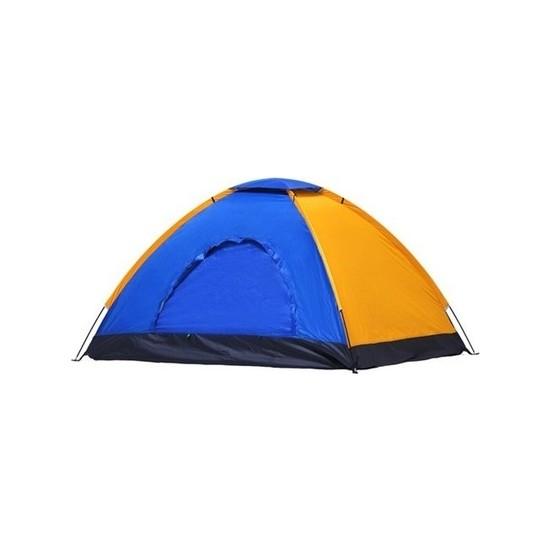 Onetick 6 Kişilik Renkli Dayanıklı Kamp Çadırı 220X250X150 cm Ekonomik