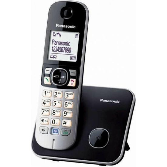 Panasonic Dect Telefon KX-TG6811 (Elektrik Kesintisinde Konuşabilme) - Siyah