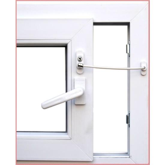 Penkid Anahtarlı Pvc Pencere Emniyet Kilidi (5 Adet) / Beyaz