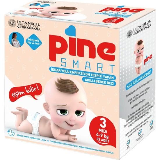Pine Smart Akıllı Bebek Bezi No 3 Midi (4-9 kg) 22'li