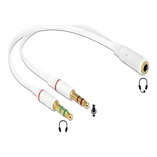 Platoon PNT-029 Kulaklık Mikrofon Ayırıcı Ysplitter Kablo 2 x 3, 5 mm