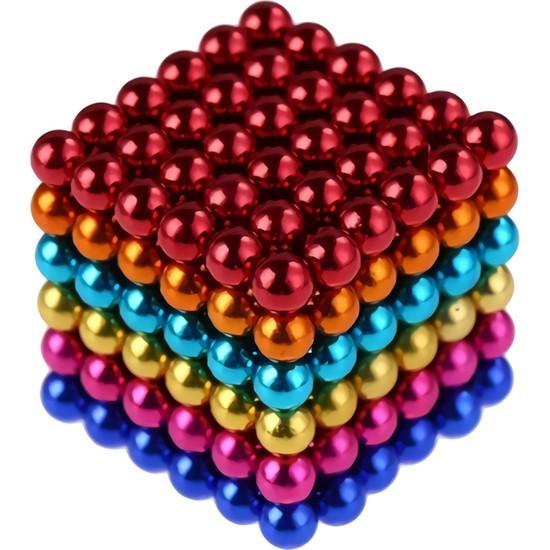 Playseba 216 Parça 3 mm Renkli Sihirli Mini Manyetik Toplar Neodyum Mıknatıs