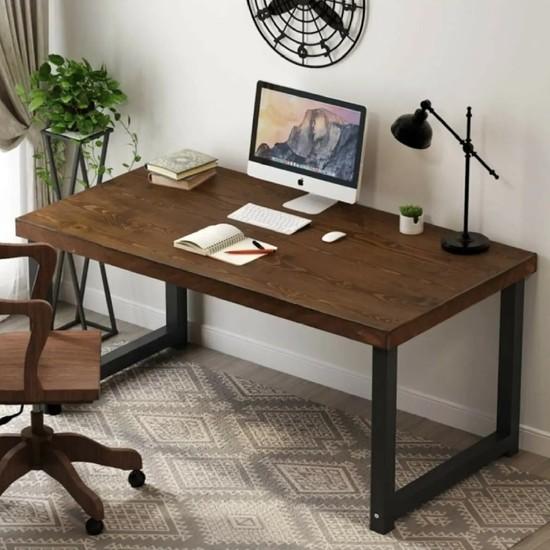 Plus Aksesuar Ahşap Dekoratif Tasarım Çalışma Masası Ahşap Ofis Masası