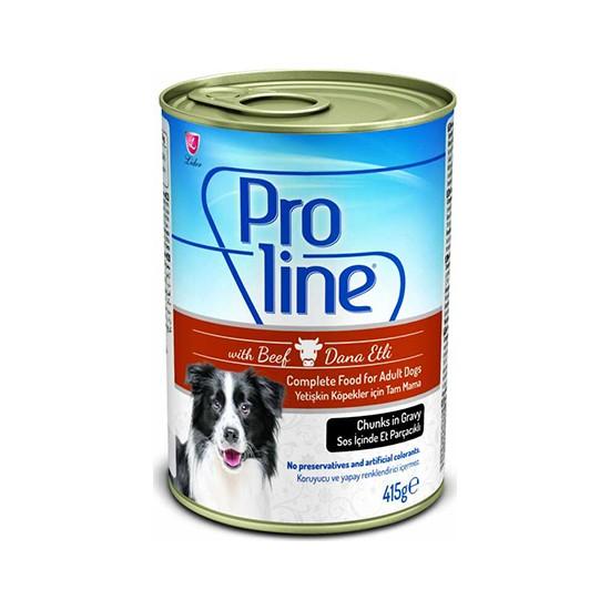 Proline Soslu Biftekli Köpek Konserve 415 gr 6 Li i