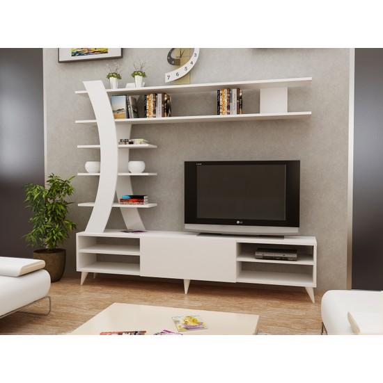 Sem İstanbul Tv Ünitesi Beyaz- 180 Cm