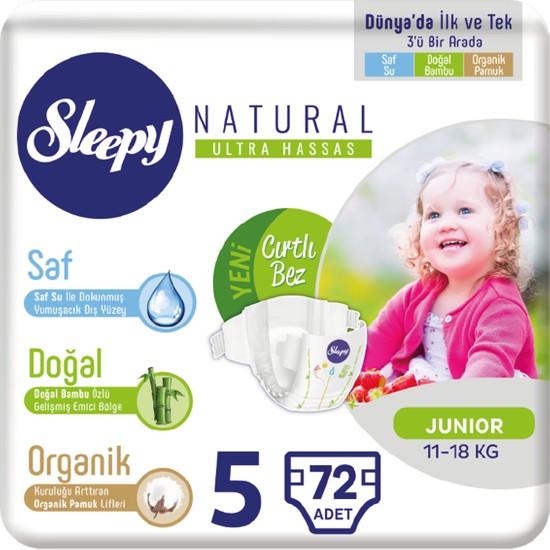 Sleepy Natural Bebek Bezi Üçlü Jumbo 5 Beden 72 adet