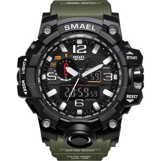 SMAEL S1545 Asker Yeşili Erkek Kol Saati