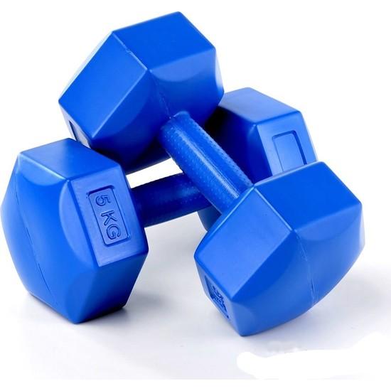 Spin 8 Kg X 2 Adet Plastik Mavi Dambıl Cs-569