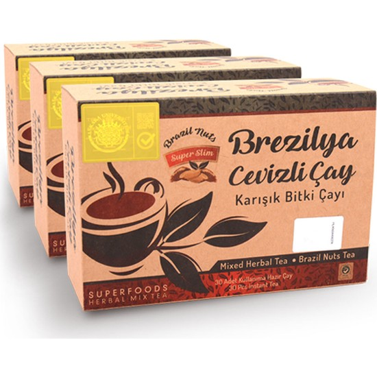 Superfoods Brezilya Cevizli Karışık Bitki Çayı 30 Günlük