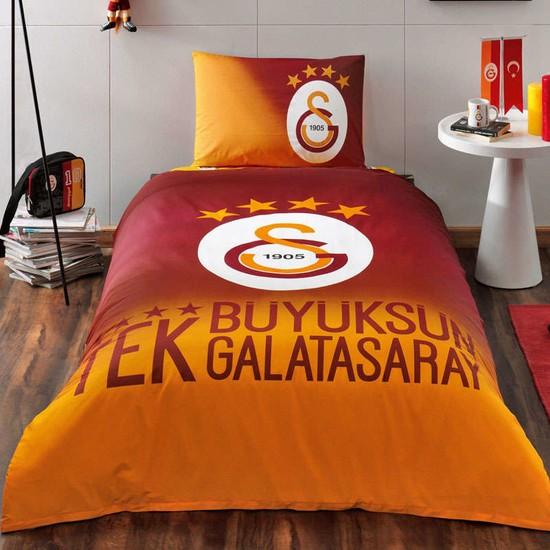 Taç Galatasaray 4 Yıldızlı Lisanslı Tek Kişilik Nevresim Takı