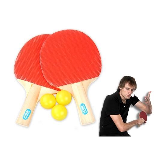 Toptancı Kapında Masa Tenisi Seti (2 Raket + 3 Top)