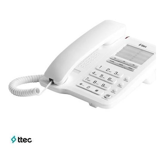 Ttec Plus Tk-2900 Beyaz-Gümüş Masa Üstü Telefon