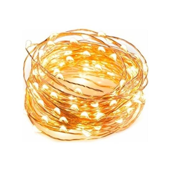 Tuğra Peri LED Gün Işığı Sarı 10 m