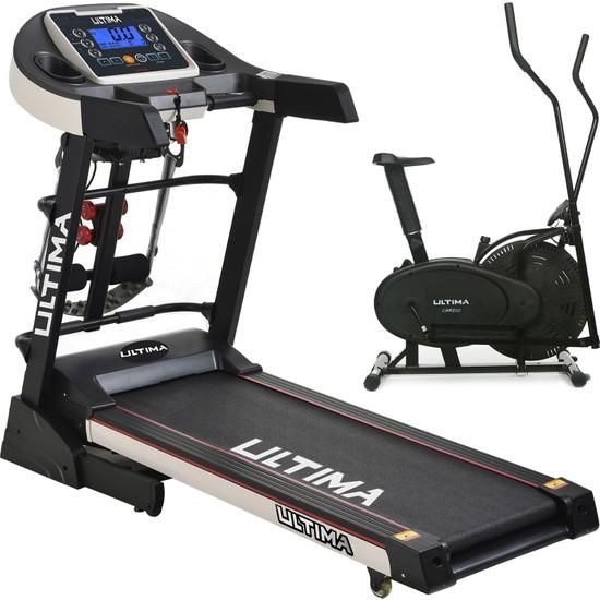 Ultima DC-4000 Otomatik Eğim Koşu Bandı Cardio + Eliptik Bisiklet