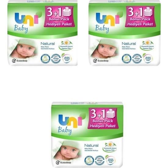 Uni Baby Natural Islak Havlu 12 Adet