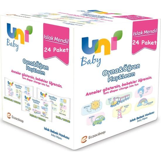 Uni Baby Oyna Öğren Islak Mendil 24lü Fırsat Paketİ 52x24 (1248 Yaprak)