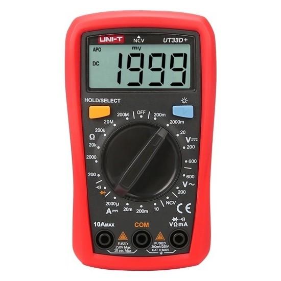 Unı-T UT33D+ 600V 10A Dijital Multimetre
