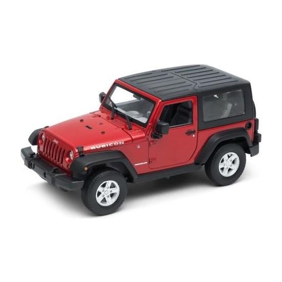 Welly Diecast 2007 Jeep Wrangler Rubicon Oyuncak Araba Çek-Bırak Kırrmızı