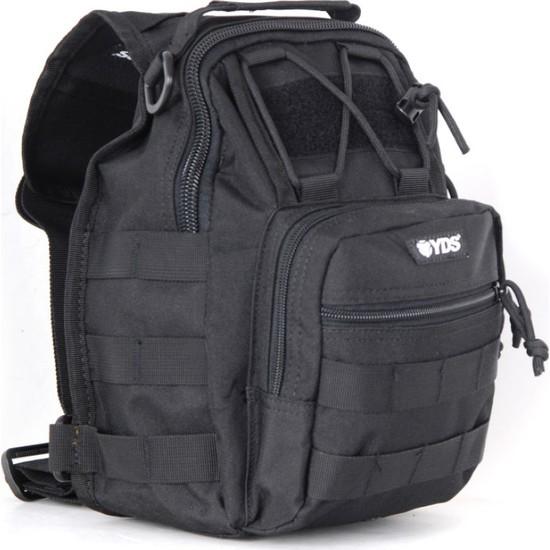 Yds Tl-7091 5 L Askılı Çanta -Siyah (Su Ve Aşınmaya Dayanıklı, Askılı Taktik Outdoor Çantası 5L)