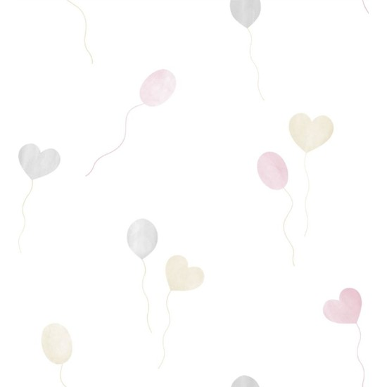 Zümrüt Milky Baby 432-1 Pastel Balon Desenli Duvar Kağıdı